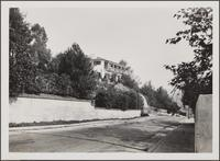 Monterey-style house on North Catalina Street, looking east from North Catalina Street and Bonvue Avenue
