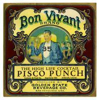 Bon Vivant Brand Pisco Punch, Golden State Beverage Co., San Francisco