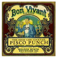 Bon Vivant Brand Pisco Punch, Golden State Beverage Co., San Francisco