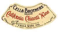 Cella Brothers Brand California Chianti wine, Cella Wine Co., Fresno