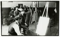 Xavier Martinez (facing camera) and fellow art students at Mark Hopkins Institute of Art, San Francisco