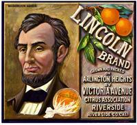 Lincoln Brand Washington navel oranges, Victoria Avenue Citrus Association, Riverside
