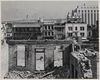 Stockton and Pacific Streets, wrecking for housing project, Chinatown, San Francisco