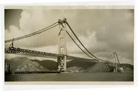 Golden Gate Bridge construction, span connection north