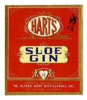 Hart's sloe gin, The Alfred Hart Distilleries, Los Angeles