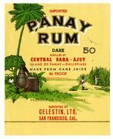 Panay rum, Celestin, Ltd., San Francisco