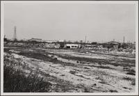Los Angeles River near central manufacturing district (Vernon), looking northeast; storm drains
