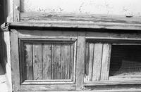 Old wood base of window at Soon Lee Co., Chinatown