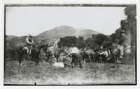 Roping in the field, El Roblar Rancho