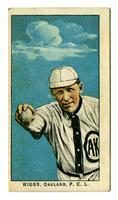 Jimmy Wiggs, pitcher, Oakland Oaks, 1911, Obak cigarette card