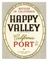 Happy Valley California port, The Burbank Winery, Burbank