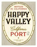 Happy Valley California port, The Burbank Winery, Burbank