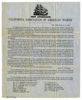 Ship Angelique: California Association of American Women, New York, February 20, 1849.