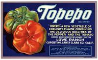 Topepo label, Lowe Ranch, Cupertino