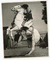 Portrait of horsewoman Barbara Scott