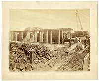 Construction of the U.S. Mint, from Mission St., San Francisco