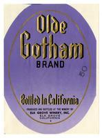 Olde Gotham Brand, Elk Grove Winery, Elk Grove