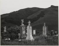 Catholic cemetery behind Marin City Housing Project, Marin City, Marin County, California