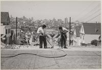 Street repairs, Potrero Hill, San Francisco