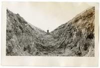 Inside a trench, circa 1924