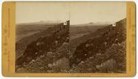 Panorama of Lava Beds from Signal Station at Tule Lake, Camp South