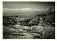 Golden Gate Bridge construction, view from Fort Baker, Marin County