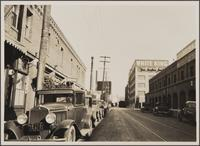 Looking east on Banning Street from Alameda Street; all commercial