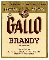 Gallo brandy, E. & J. Gallo Winery, Modesto