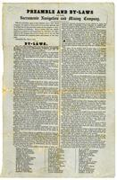 Preamble and by-laws of the Sacramento Navigation and Mining Company.