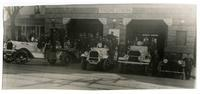 Fire fighters and vehicles of Engine Co. No. 28, Los Angeles