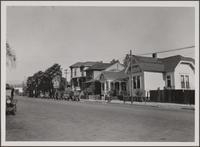 Mexican frame homes on Castelar Street, east side, north of Ord Street