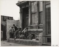 Children playing in front of residence, San Francisco
