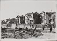 Lowering level of Temple Street across Bunker Hill