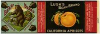 Lusk's Bear Brand California apricots, California Canneries Co., San Francisco