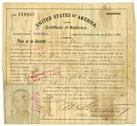 Certificate of residence for Don Yin, gardener, age 45 years, of Vina, California