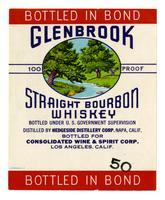 Glenbrook straight bourbon whiskey, Consolidated Wine & Spirit Corp., Los Angeles