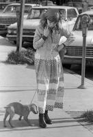 Little girl with dog and dress (possibly Noe Valley)