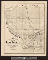Map of a part of Kern County