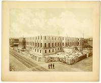 Progress of construction, U.S. Mint [three-story], N.W. corner of 5th & Mission, San Francisco