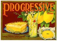 Progressive Brand lemons, Corona Foothill Lemon Company, Corona