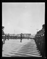 San Francisco police officers marching in street