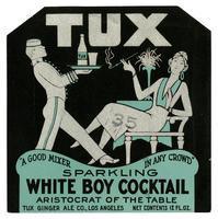 Tux Sparkling White Boy Cocktail, Tux Ginger Ale Co., Los Angeles