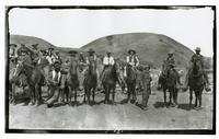 Group portrait of men on horseback, Rancho Santa Anita