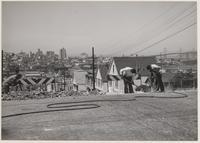 Street repairs, Potrero Hill, San Francisco