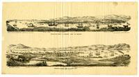 Benicia and Straits of Carquinez from the sout [sic] east. [upper]; Benicia & harbor from the north west. [lower]