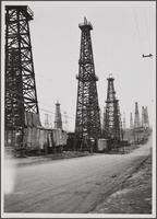 North Long Beach, California Avenue, north from 27th Street; ore wells