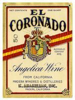 El Coronado Brand Angelica wine, K. Arakelian, Inc., Madera Wineries & Distilleries, Madera