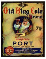Old King Cole Brand California port, Distillers Outlet Co., Los Angeles