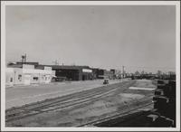 Long Beach harbor from West 1st Street and Santa Clara Avenue, looking east