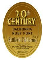 20th Century California ruby port, California Growers Wineries, Cutler